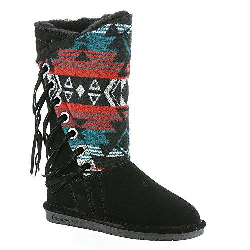Bearpaw Womens Kathy: 12 In. Boot (Black/Grey, 10)