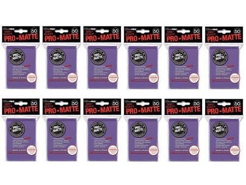 600 Ultra Pro Purple PRO-MATTE Deck Protectors Sleeves Standard MTG Colors