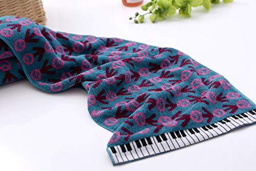 Kuning Piano Hand Towel, Cotton Face Towel 29''x13'' (76 x 34 cm) (Blue)