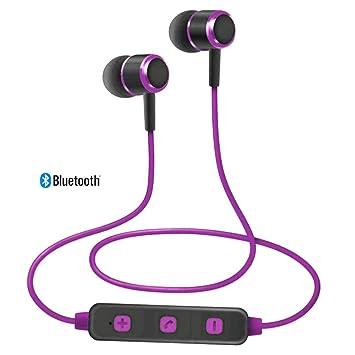 DIGIVOLT Auriculares Bluetooth Inalambrico con micrófono para Deporte Color Purple: Amazon.es: Electrónica