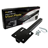 Pro-Grade 8'' x 8'' Steel Bench Vise Plate Hitch Mounted for 2'' Receiver 22'' Receiver Bar
