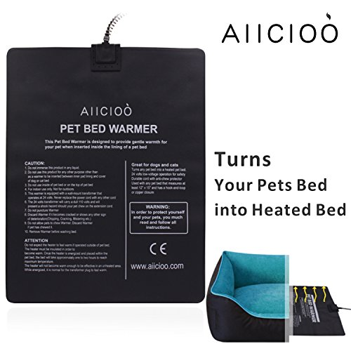 Aiicioo Pet Bed Warmer Pet Heating Pad Turns Your Pet Bed into Heated Dod Bed & Cat Bed - Safe Low Volt Operation by Aiicioo