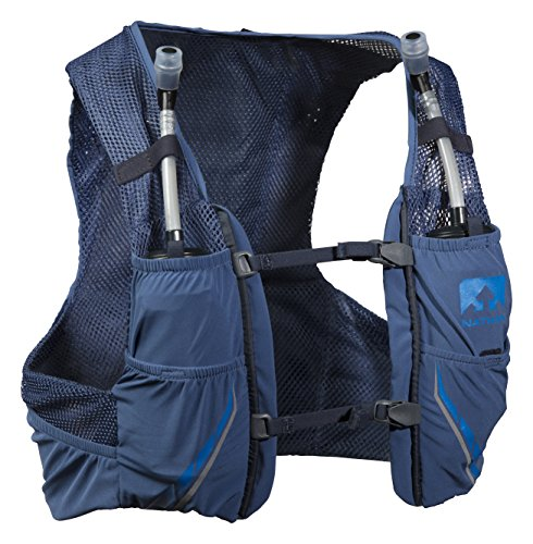 Nathan NS4544-0377-31 Male Vapor Zach 2.5L Running Hydration Packs, True Navy/Blue Nights, X-Small by Nathan (Image #1)