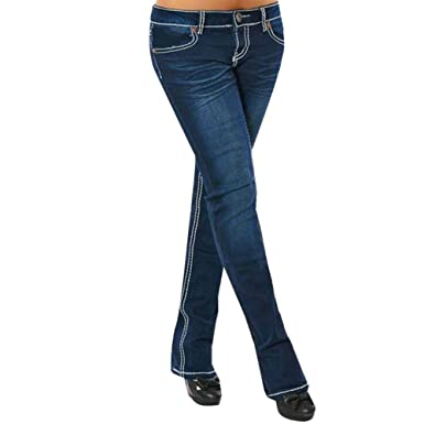 86e0285563a Image Unavailable. Image not available for. Color  OVERMAL JEANS Women  Embroidery Skinny Pencil Denim Jeans Stretch Slim Fitness Pants Trousers