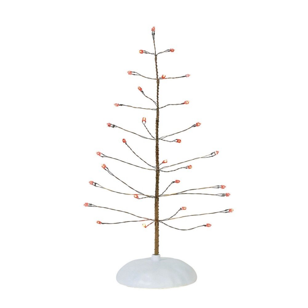 Department 56 Collections Twinkle Brite Red Tree Village Accessory, Multicolor 6001731