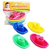 SmartLane Baby Bath Toy Boat Set, 4 Piece