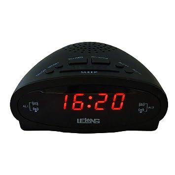 60d9efb2dbb RADIO RELOGIO DESPERTADOR COM DUPLO ALARME DISPLAY LED E RADIO FM BIVOLT