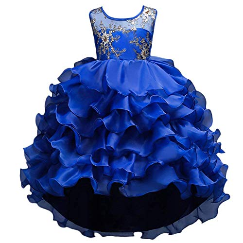 VERNASSA Girl Dress Kids Ruffles Lace Party Wedding