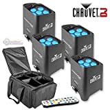Chauvet Freedom Par Tri 6 4 Pack w/ Bag and IRC 6