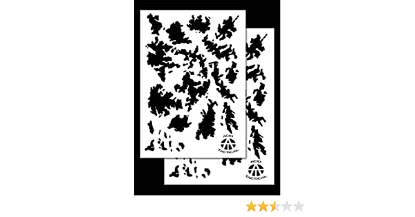 """2Pack Army Camo Vinyl Airbrush Stencils 10 Mil Camouflage Duracoat 9x14/"""""""