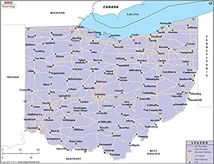 Amazoncom Ohio Highway Map Laminated 36 W x 2754 H