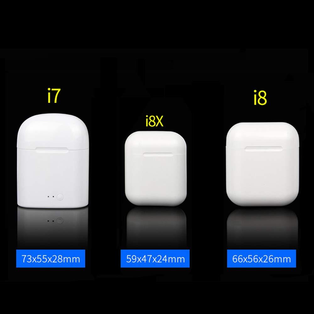 Auriculares I8X Bluetooth, auricular para auriculares compatible con iPhone y teléfonos Samsung y Android, auriculares estéreo intrauditivos V4.2 ...