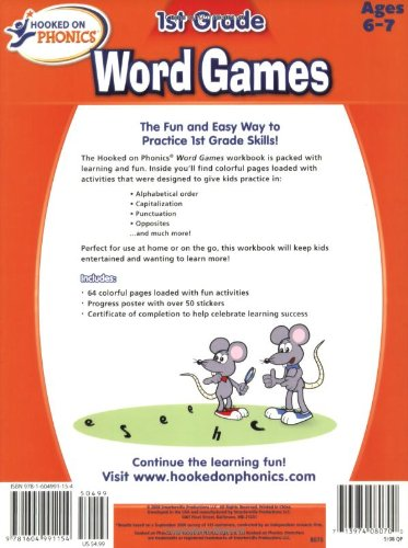 Hooked on Phonics First Grade Word Games Workbooks: Hooked On ...