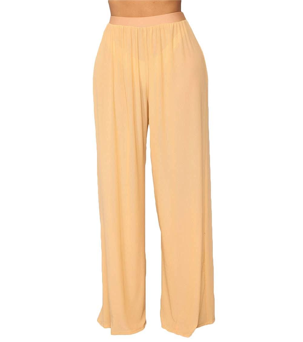 f46800f312 Amazon.com  lisenraIn Women s See Through Sheer Mesh Long Pants Trousers  Swimwear Bikini Bottom Cover Up  Clothing