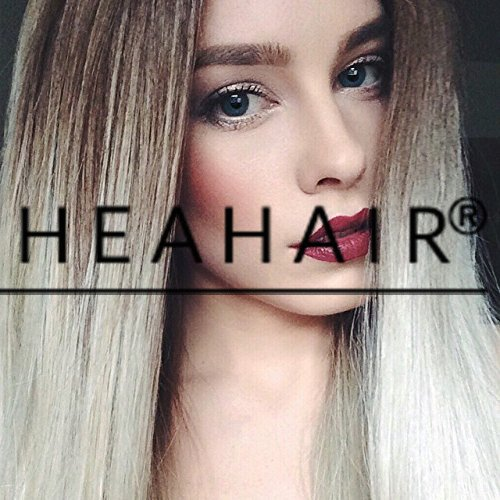 Heahair Natural Looking Ombre Blonde Straight Handtied Synthetic Lace front Wigs for Woman (Homemade Halloween Costumes Ideas 2015)