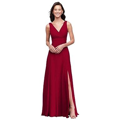 David s Bridal Surplice Tank Long Chiffon Bridesmaid Dress Style ... 62eba3e81