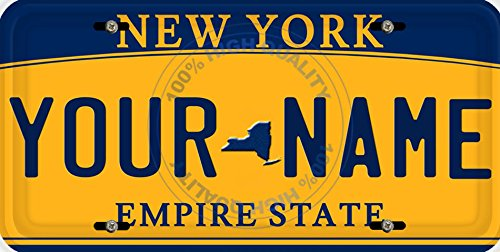 (BleuReign(TM) Personalized Custom Name New York State Car Vehicle License Plate Auto Tag (ALL STATES AVAILABLE))