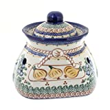 Polish Pottery Bluebell Small Garlic Keeper