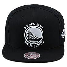 Mitchell & Ness Golden State Warriors Snapback Hat Cap Black/White/2015 Finals
