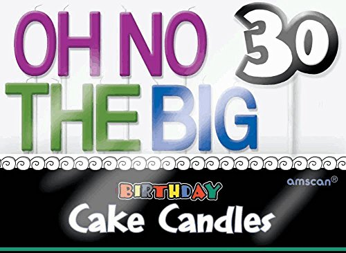 """""""Oh No The Big 30"""" Toothpick Candle Set, Birthday"""
