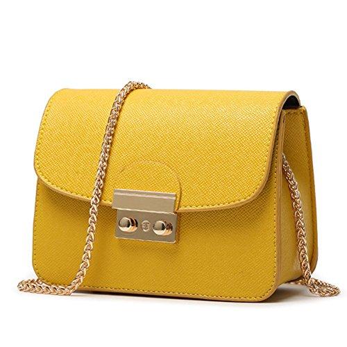 fanhappygo - Bolso de hombro Mujer amarillo