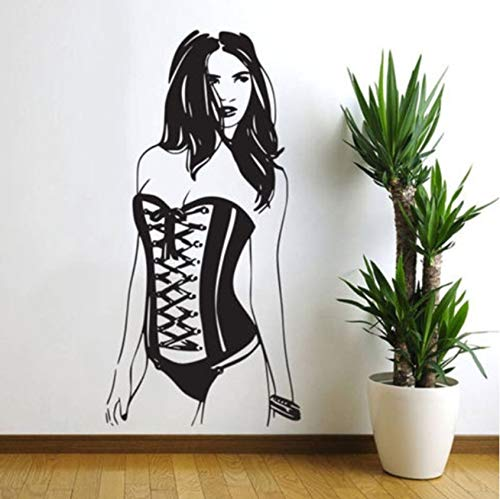 hwhz 42 X 85 cm Wall Stickers Fashion Sexy Women Murals Vinyl Pin Up Girl Wall Decal Home Decoration Art Bedroom Self Adhesive Wallpaper
