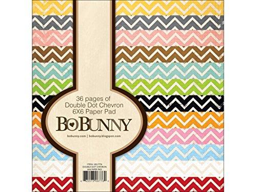 Bo Bunny DD Pad Double Dot Paper 6x6 Chevron