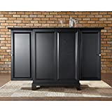 Crosley Furniture Newport Expandable Bar Cabinet in Black Finish Review