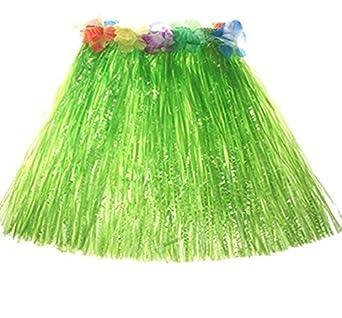 Cupcinu Hawaii Faldas Niños Hawaiian Grass Hula Falda con ...