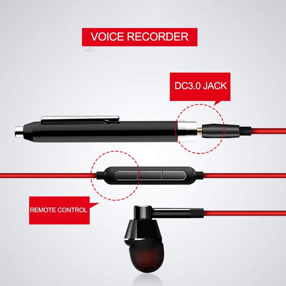 Enregistreur vocal num/érique 16 Go Portable Stylo enregistreur vocal num/érique