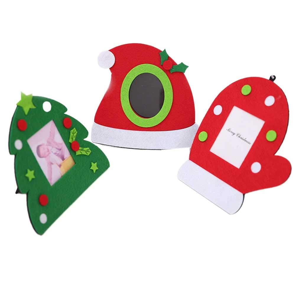 BESTOYARD Christmas Photo Frame Desktop Ciondolo Appeso Goccia per casa Festa di Natale (Cappello Guanto Tree)