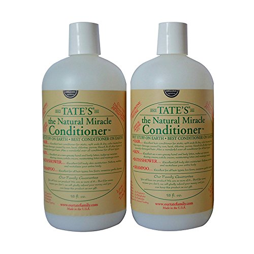 Tates Miracle Conditioner - 2 Pack - Tate's Family Organic Miracle 18oz Conditioner