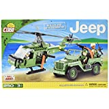COBI Small Army Jeep Willys MB with Helicopter