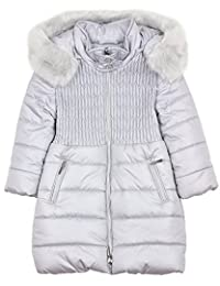 Mayoral Girl's Gray Quilted Puffer Coat, Sizes 2-9