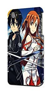 Sword Art Online SAO Snap on Plastic Case Cover Compatible with Apple iPhone 5c