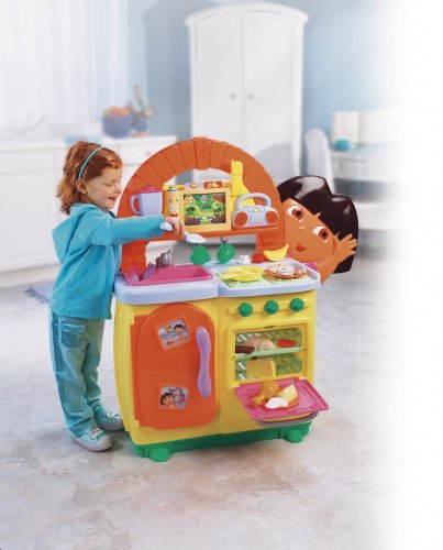 Amazon Com Fisher Price Dora S Talking Kitchen Toys Games