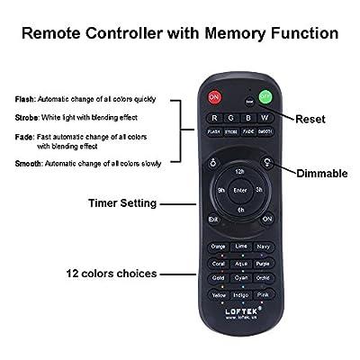 LOFTEK® 50W RGB Timer LED Security Floodlight Remote Controler
