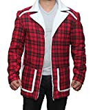 Deadpool Ryan Reynolds Red cotton flannel Shearling Jacket 3XL