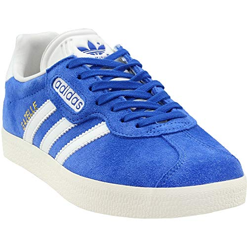 adidas Gazelle Super Mens in Blue/Vintage White/Gold Metallic, - Vintage Gazelle Adidas