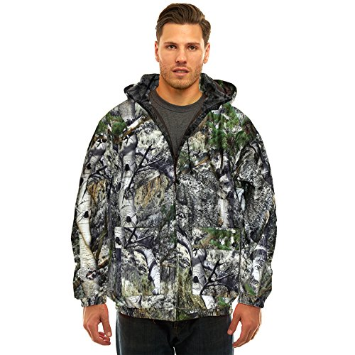 (Trailcrest Men's Insulated & Waterproof Hunters Tanker Jacket, Mossy Oak Camo Patterns, Large, Mountain)