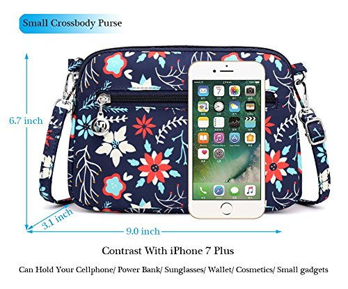 Small Pockets Mini Multi Nylon Travel r Purse Bag Collsants Flower Shoulder Zipper Crossbody dqaFF