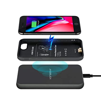 Amazon.com: Funda de carga inalámbrica para iPhone 7/6S/6/7 ...