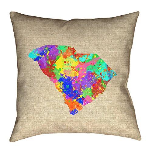 ArtVerse Katelyn Smith South Carolina Watercolor Pillow