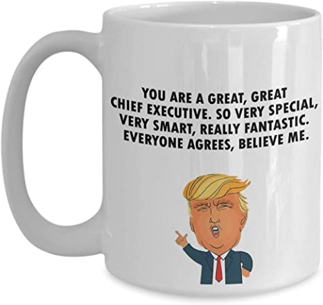 Amazon Com Trump Profession Chief Executive Funny Quote Coffee Mug For Men Fun Office Mug Christmas Gifts For Father Birthday Gift Ideas For Daddy Kitchen Dining