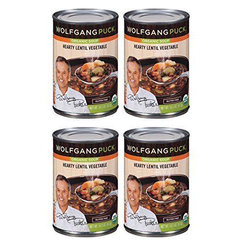 WOLFGANG PUCKGluten Free Organic Soups   Lentil & Vegetable, Thick Hearty   Gluten Free [ 4 Pack ]