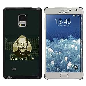 TECHCASE**Cubierta de la caja de protección la piel dura para el ** Samsung Galaxy Mega 5.8 9150 9152 ** Win Or Die Quote Man Life Motivational Success