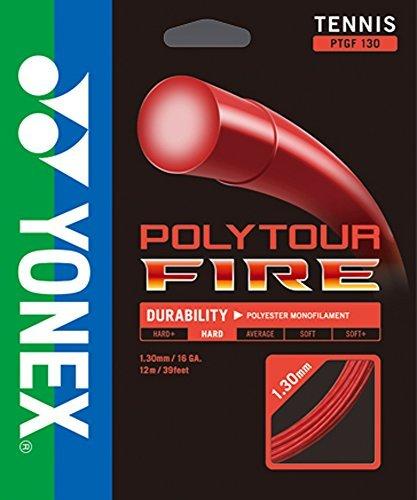 Yonex Poly Tour Fire 16 130 Tennis Racquet String Red