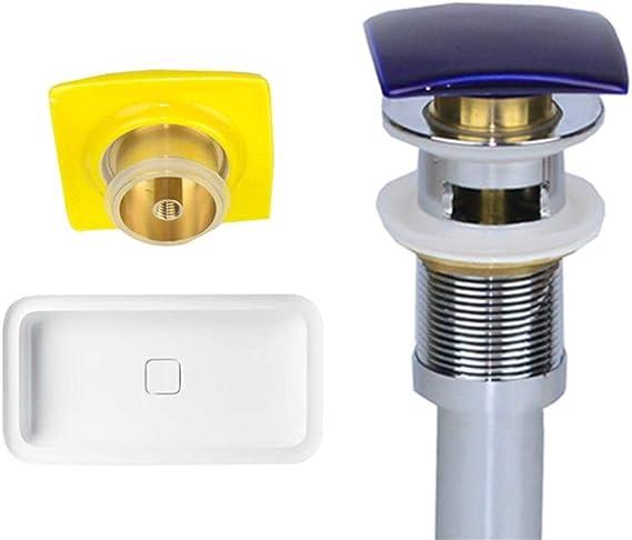 FCS Bathroom Tapones de Desag/üe Lavabo V/álvula Pop-up Universal v/álvula desag/üe Lavabo con Rebosadero Tapones De Desag/üe Valvula Cuadrado V/álvula para Lavabo Clic clac