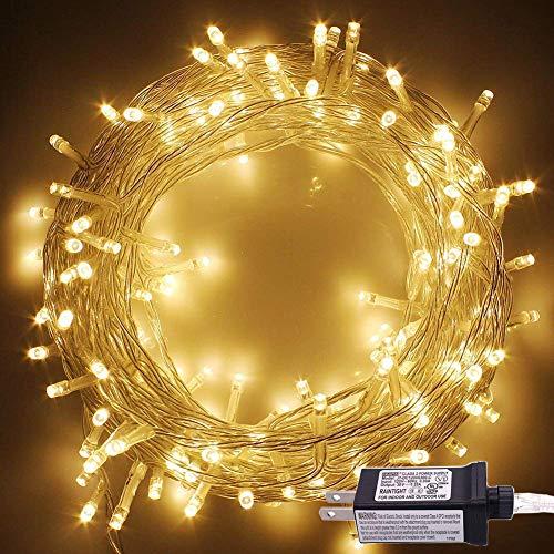 OASMU 100LED 33ft Indoor String Light Christmas Lights Fairy String Lights 30V 8 Modes for Homes, Christmas Tree, Wedding Party, Room, Indoor Wall Decoration
