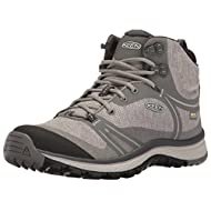 KEEN Women's Terradora Mid WP Hiking Shoe, Gargoyle/Magnet, 9.5 M US